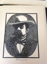 Jack Daniels Dan Quest Woodcut Print Jack Daniels