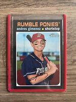 2020 Heritage Minors Base Flip Stock Andres Gimenez - Rumble Ponies Mets
