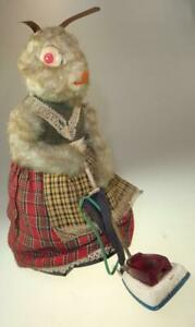 CRAGSTAN? TOY MRS RABBIT+VACUUM CLEANER MADE IN JAPAN BATTERY OPERATED 1950s?