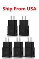 5x Black ADAPTIVE FAST CHARGER Wall ADAPTER For Samsung Galaxy A20 A30 A50 A10E