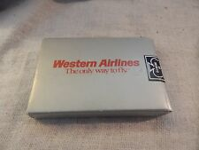 Vintage Western Airlines Playing Cards Sealed Wessco