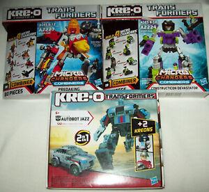 Transformers Kreo Collection (Jazz, Predaking, Devastator)