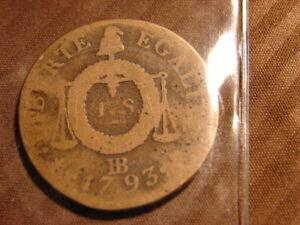 CONVENTION. 1 SOL AUX BALANCES 1793.BB. STRASBOURG.