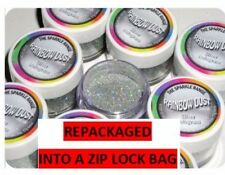 SILVER HOLOGRAM Rainbow Dust 'Edible' Cake Glitter Sparkle repackaged