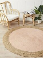 Braided Rug Rag Bohemian Jute Area Rug Round Shape Rag Home Decor Rugs Circle