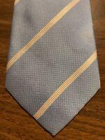 D9 Charles Tyrwhitt Mens 100% Silk Necktie Tie Light Blue Stripe