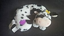 Little Brownie Bakers Daisy Belle Cow Plush Travel Neck Pillow  Stuffed Animal