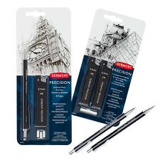 Derwent Precision Mechanical Pencil Set 0.7mm or 0.5mm Leads & HB / 2B Refills