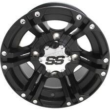 "Golf Cart Set 12"" Wheels/Rims ITP SS212 Black 2+5 - 4/4 12X7 4 RIMS INCLUDED"