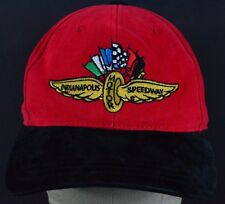 Red Indianapolis Motor Speedway embroidered baseball hat cap adjustable strap