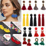 Fashion Long Tassel Hook Drop Dangle Earrings Vintage Women Bohemian Fringe Boho