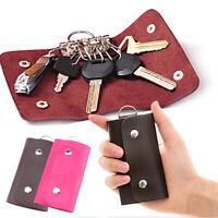 Women Men Fashion PU Leather Keyring Car Key Bag Case Holder Organizer 07AU