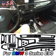 5D Bling Carbon Fiber Sticker Interior Vinyl Decal Trim for BMW E90 3 Series