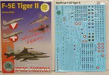 F-5 E Tiger II, Österreich, Austria,Schweiz, IPMS, 1:72, Decal, NEU