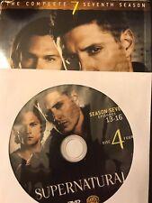 Supernatural - Season 7, Disc 4 REPLACEMENT DISC (not full season)