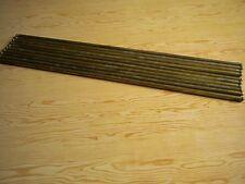 10 Anciennes barres ou tringles en laiton pour tapis d'escalier
