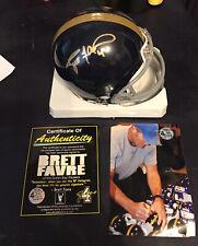 Packers Brett Favre Autographed Signed New York Jets Titan Mini Helmet RARE