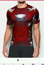 NEW MEN'S UNDER ARMOUR CIVIL WAR ALTER EGO IRON MAN COMPRESSION T-SHIRT ~ MD