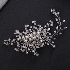 Wedding Bridesmaid Crystal Hair Piece Fashion Bridal Rhinestone Bead Hair Comb