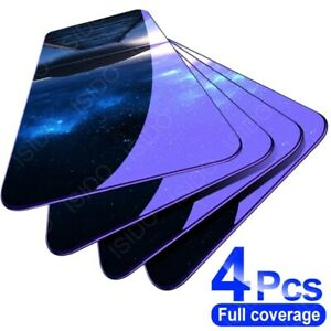 4Pcs Full Cover Tempered Glass Screen Protector For Xiaomi Redmi Note 9 8 10 7 6