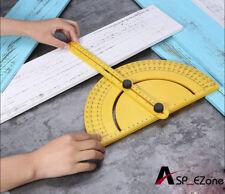 Goniometer Angle Finder Miter Gauge Arm Measuring Ruler Tool Plastic Protractor