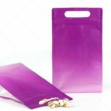 5x975225in Matte Gradient Purple Kraft Paper Standup Zip Lock Bag Withdesiccant