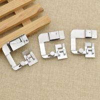 3pcs Steel Low Shank Wide Hem Roller Presser Foot Sewing Machine Accessories