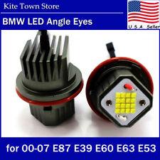 80W 6000K LED Angel Eyes Halo Ring Light Bulbs for BMW E39 E53 E60 E61 E63 E87
