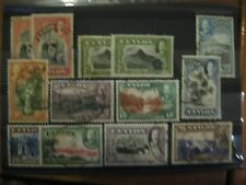 Ceylon: 1935 Definitive Set  used