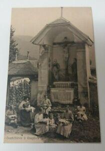 Vintage  Pre  1914  Chateau  De  Gruyere Stamped  Postcard -  Dentellieres a Gru
