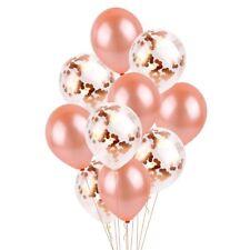10PCS Rose Gold Confetti Foil Latex Balloon Set Helium Wedding Party Birthday