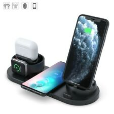 6 In1 Qi Wireless Charging Universal Fast Charger Charging Dock Charger Stand US