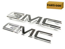 2015-2018 GMC Sierra Grille and Tailgate GM Black Emblems OEM GM