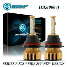 4sides 9007 HB5 375000LM LED Headlight Kit Bulb 2500W 6000K Golden High Low Beam