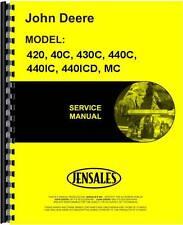 John Deere Crawler Service Manual 420 40C 430C 440C 440IC 440OICD MC