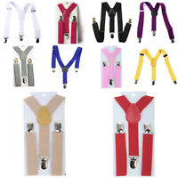 012 Unisex Boys Girls Child Adjust Trousers Braces Suspenders Straps Gallows