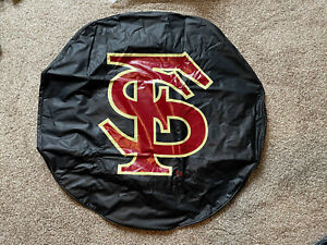 NCAA - Florida State University (Script) Tire Cover College Team Logo - Black