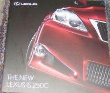 Lexus IS 250C Brochure 2009 - SE-l  &  SE-L