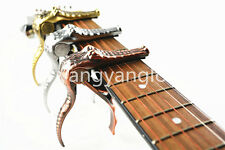 Alice A007G Metal Crocodile Guitar Capo Clamp For Acoustic Electric Guitar