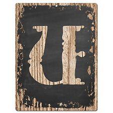 PP02333 Alphabet Initial Name Letter U Chic Sign Bar Shop Store Home Room Decor