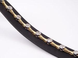 wunderschönes Gelbgold/ Weißgold Armband mit Brillanten 2,60 ct