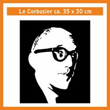 LE CORBUSIER Wandtatoo, ca. 35 x 30 cm, Hochleistungsfolie m. Montagepapier