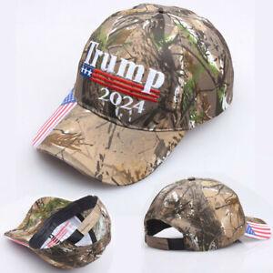 Donald Trump 2024 MAGA Hat Cap Camouflage USA Flag KAG Save Keep America Great !