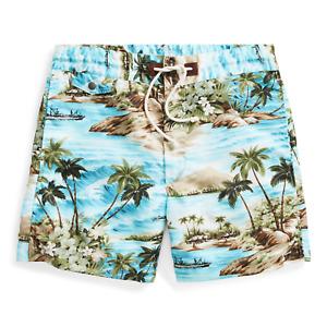 $265 Double Ralph Lauren RRL Hawaiian Blue Twill Swim Board Tropic Short Shorts