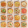 Family Carpets Decor Delicious Cheese Pizza Theme Round Area Rugs Room Floor Mat
