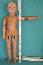 All Wood Schoenhut Jointed Doll Antique Intaglio Eyed Character Face
