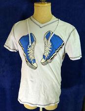 Skater sneaker tee shirt blue converse shoe fitted v neck mod ska vintage skate