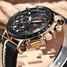 2019 Mens Watches Top Brand Luxury Leather Band Big Dial Military Quartz Watch