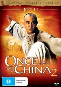 Once Upon A Time In China 2 DVD Jet Li Wong Fei Hung Hong Kong Action Movie