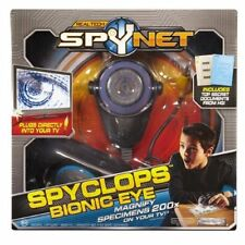 Jakks~REAL TECH SPYNET™ SPYCLOPS BIONIC EYE~Magnify 200x~Plugs into Any TV~NIB